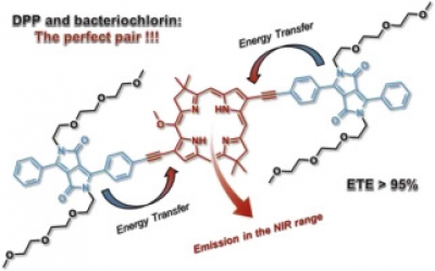 Near-infrared emissive bacteriochlorin-diketopyrrolopyrrole triads: Synthesis and photophysical properties
